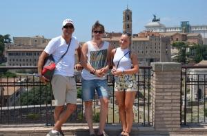 Mine fine på utsiktspunket i området rundt Colosseum